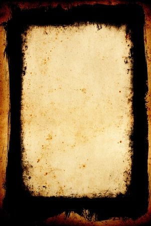 Black and white grungy frame with brushed outer and inner decay Stock Photo