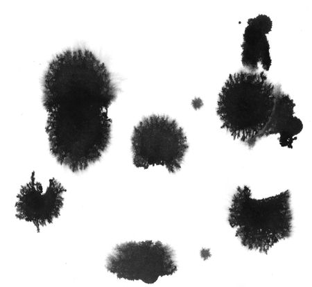 Splats and blobs of paint Stock Photo