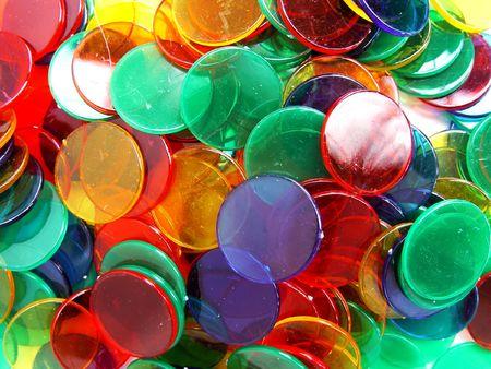 colourfull plastic counters