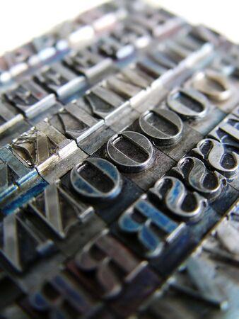 Old Letterpress Type Stock Photo