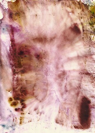 Soaking wet layer of watercolour paint, printed from glass sheet at monoprint