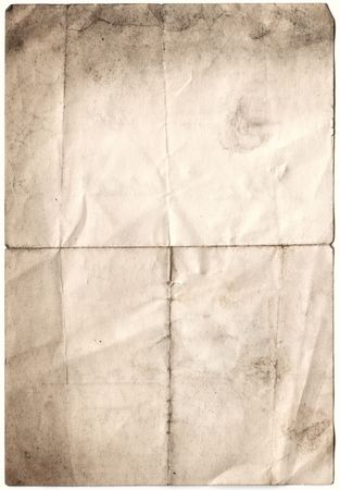 scanned decayed old paper, all with clipping paths included