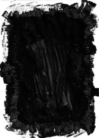 Black paint brush mark making