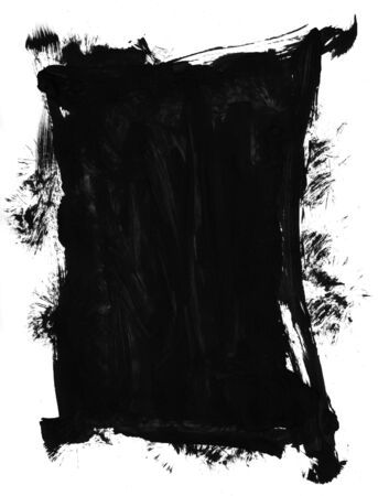layer mask: Black paint brush mark making