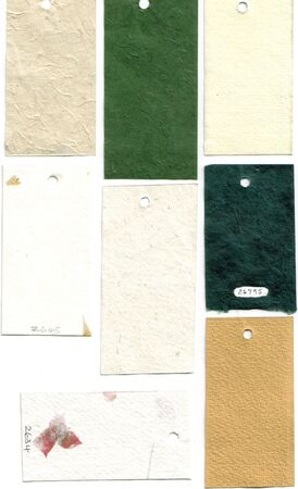 Paper sample swatches, hand made papers... Stock Photo - 474221