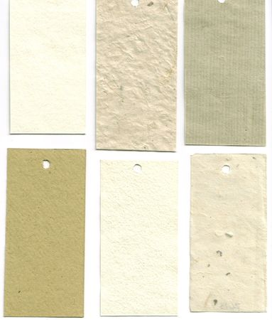 Paper sample swatches, hand made papers...