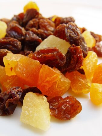 Dried mixed fruits, a healthy snack. Stock Photo
