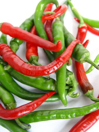 Spicy chilli peppers, lovely bright colours