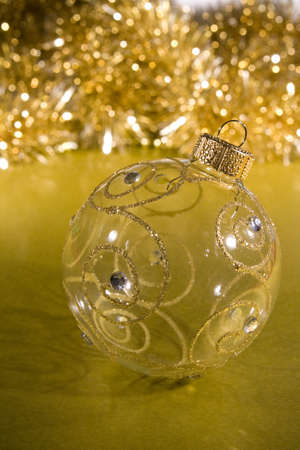 arranged: Christmas baubles arranged for Christmas card or background decoration design elements. Stock Photo