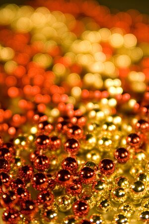 differing: Shinny Beadl for background christmas design element, selective focus & depth of field used to creat differing moods of shot.