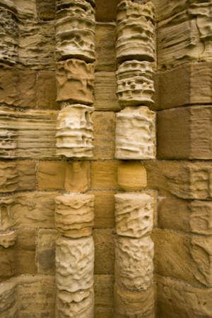 whitby: Stone textures of Whitby Abbey Stock Photo