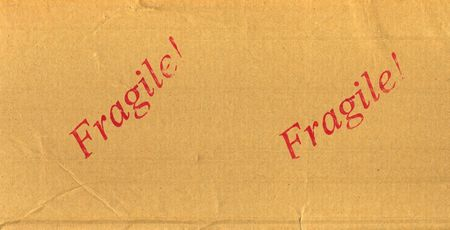 hz: Red Fragile! Stamped on mail package