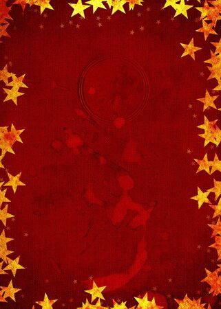 Festive Party Christmas Card background with Stars... Have a very grungy Christmas, party invite of christmas card. photo