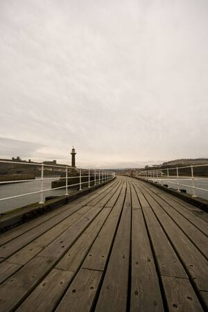 View of Whitby Harbour, overcast sky. Looking back at Whitby's Port. Stock Photo - 4794342