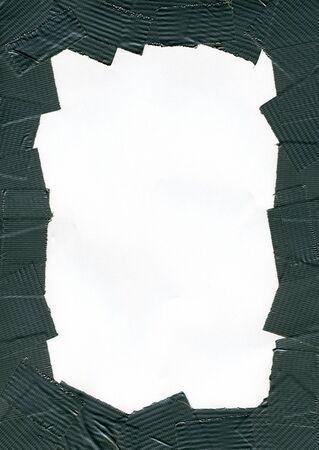 Duct Tape Frame background, border, grunge Stock Photo