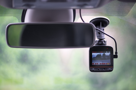 Dash camera in car