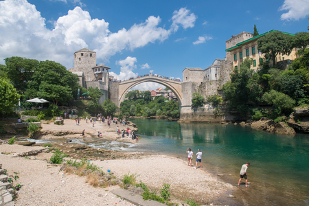 Mostar, Bosnia and Herzegovina, circa july 2016: The Old Bridge in Mostar, Bosnia and Herzegovina