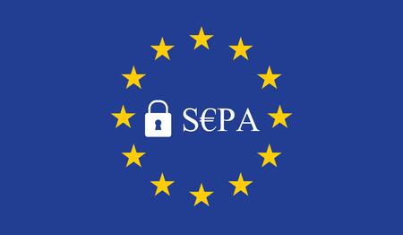 SEPA - Área única de pagos en euros. Foto de archivo - 87715316