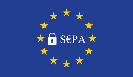 SEPA - Single Euro Payments Area. Illustration