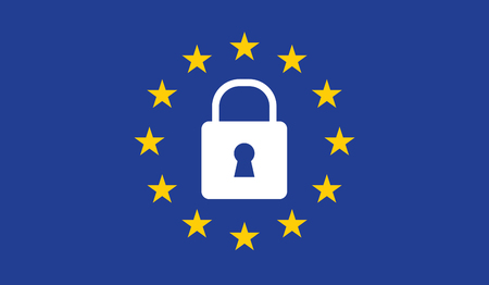 General Data Protection Regulation (GDPR) padlock. Иллюстрация