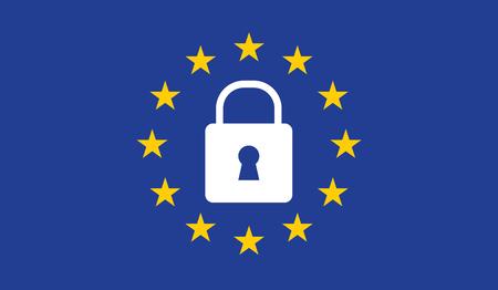 Lucchetto del regolamento generale sulla protezione dei dati (GDPR). Archivio Fotografico - 87715317