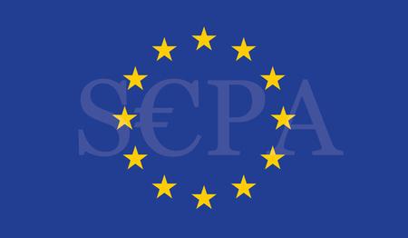 SEPA - Single Euro Payments Area. Illustration
