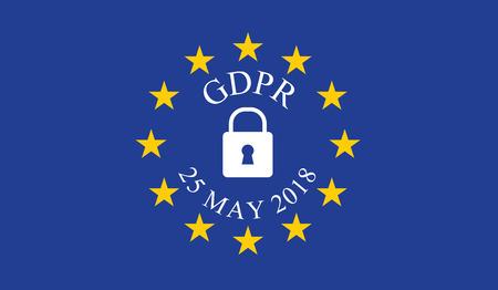 Regulación general de protección de datos (GDPR) Foto de archivo - 87928732