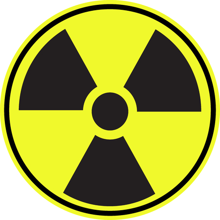 radioactive warning symbol: Radioactive contamination symbol - Illustration