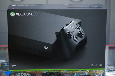 London, november 6, 2017: New Xbox One X console box