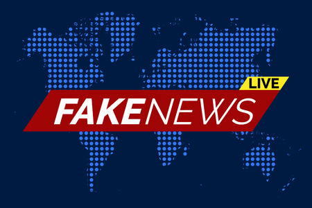 Fake news, live illustration vector