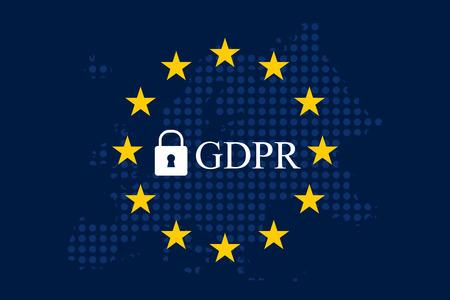Algemene gegevensbeschermingsregeling (GDPR) Stockfoto - 90320400