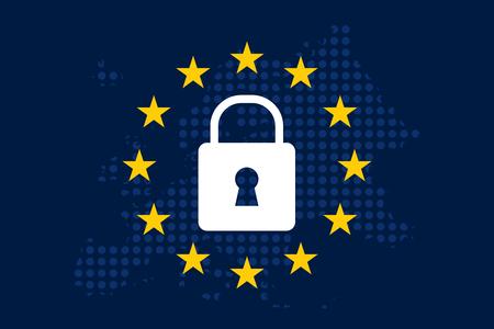General Data Protection Regulation (GDPR) Vectores