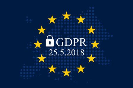 Regolamento generale sulla protezione dei dati (GDPR) Archivio Fotografico - 90334407
