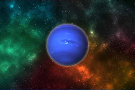 Neptune planet in outer space. 版權商用圖片