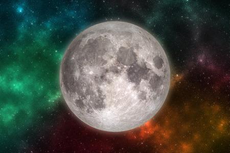 Moon in outer space. Archivio Fotografico