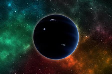 Il pianeta ipotetico X ha soprannominato il pianeta 9. Archivio Fotografico - 91779197
