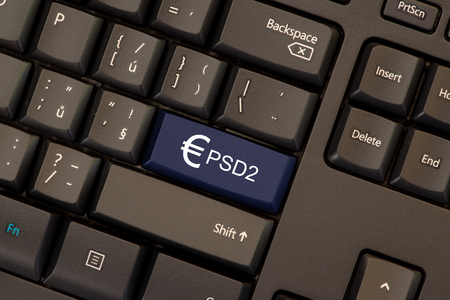 Payment Services Directive 2 (PSD2) on keyboard button