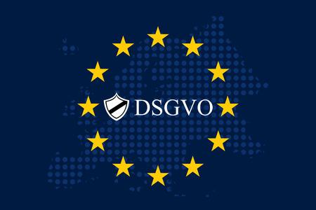 Algemene verordening gegevensbescherming Duitse mutatie Stock Illustratie
