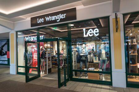 Parndorf, Austria, february 15, 2018: Lee Cooper and Wrangler store in Parndorf, Austria.