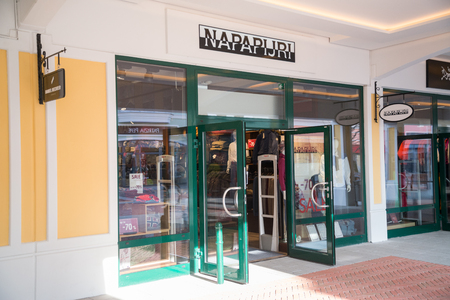 Parndorf, Austria, february 15, 2018: Napapijri store in Parndorf, Austria. Napapijri is an Italian premium casual-wear brand owned by VF Corporation.