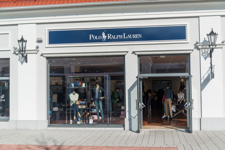 Parndorf, Austria, february 15, 2018: Polo Ralph Lauren store in Parndorf, Austria. Polo Ralph Lauren is an American corporation founded in 1967 by American fashion designer Ralph Lauren. Editorial