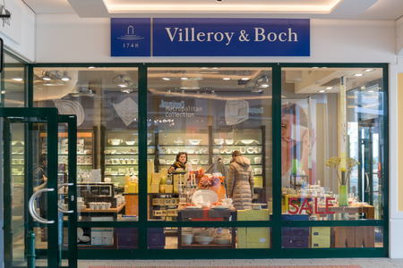 Parndorf, Austria, february 15, 2018: Villeroy & Boch store in Parndorf, Austria. Villeroy & Boch is a large manufacturer of ceramics with the headquarters in Mettlach, Germany. Founded in 1748.