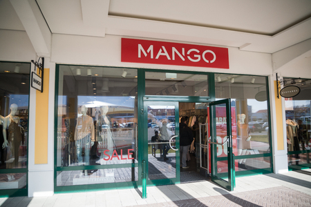 Parndorf, Austria, february 15, 2018: Mango store in Parndorf, Austria. Mango is a Spanish clothing design and manufacturing company, founded in Barcelona by brothers Isak Andic and Nahman Andic.