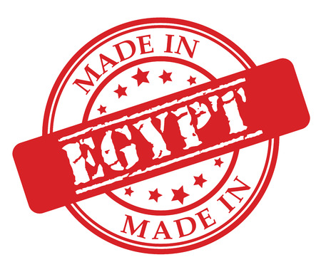 Made in Egypt red rubber stamp illustration vector on white background