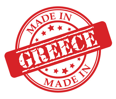 Made in Greece red rubber stamp illustration vector on white background