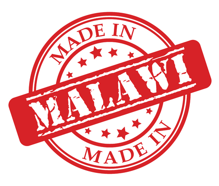 Made in Malawi red rubber stamp illustration vector on white background Illustration