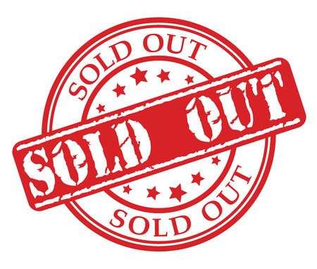 Red rubber stamp with Sold Out concept