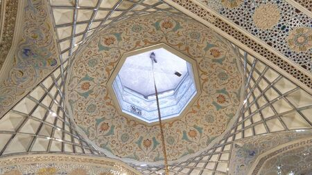 Mashhad, Iran, may 13, 2018: Interior of Haram complex, Imam Reza Shrine, the largest mosque in the world by dimension in the holiest city in Iran - Mashhad.
