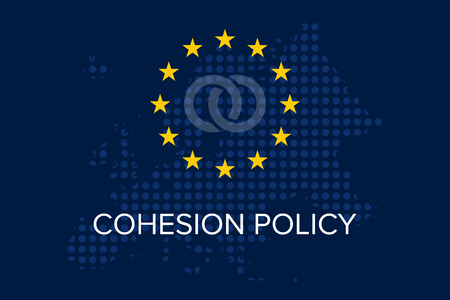 Cohesion policy concept on european union map