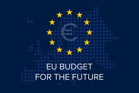EU Budget for the future on european union map